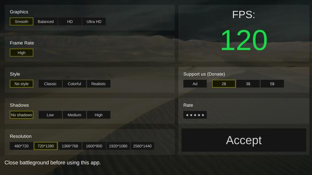 Battleground optimizer gfx स्क्रीनशॉट 1