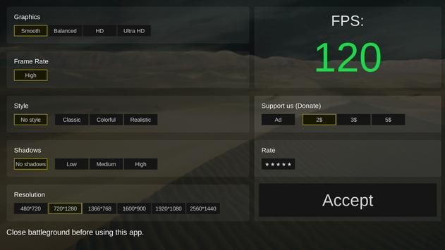 Battleground optimizer gfx स्क्रीनशॉट 2