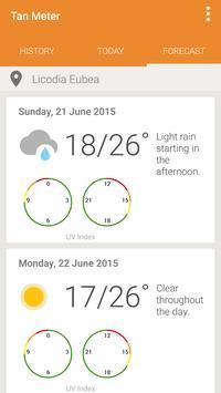 UV Index Forecast Tan Meter Ekran Görüntüsü 1