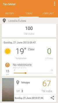 UV Index Forecast Tan Meter Ekran Görüntüsü 2