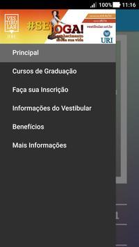 Vestibular URI/FW 2018 apk screenshot