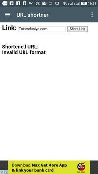 URL Shortner apk screenshot