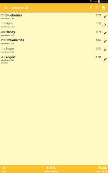 Shopping List with Widget apk screenshot