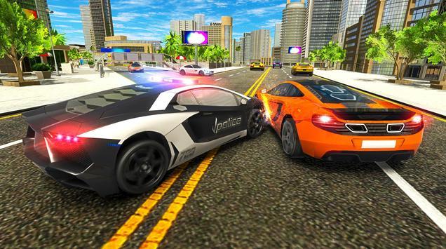 Police Chase Car Drift Drive Simulator 2018 screenshot 5
