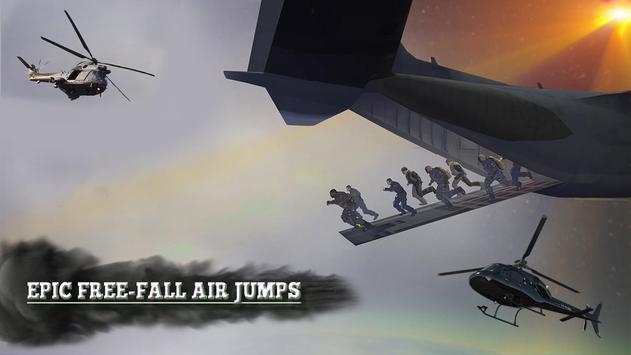 Nosotros skydive militar Poster