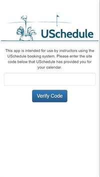 USchedule–Instructor/Coach App poster