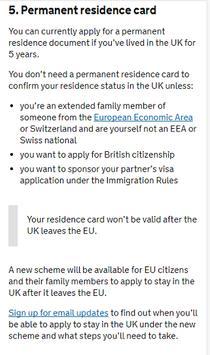 UK Residence Card Apply apk screenshot