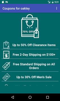 Coupons for Oakley screenshot 14