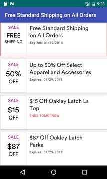 Coupons for Oakley screenshot 19