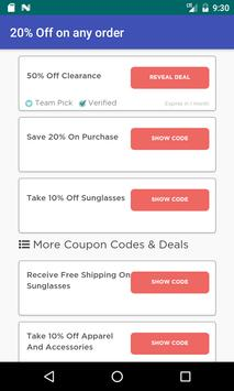 Coupons for Oakley screenshot 2