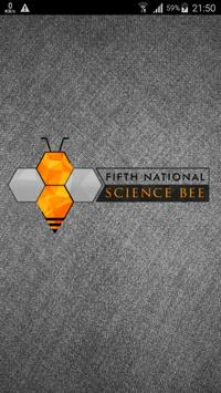 SCIENCE BEE '16 poster