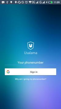 Usalama poster