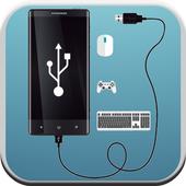 Usb OTG adapter icon