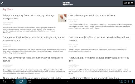 Modern Healthcare apk screenshot