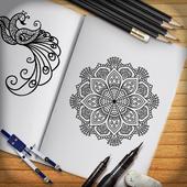 Leran to Draw Mehndi  -  Draw Mehndi Step icon