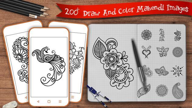 Leran to Draw Mehndi  -  Draw Mehndi Step poster