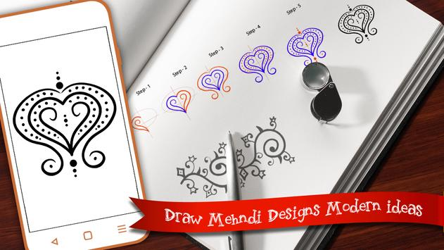 Leran to Draw Mehndi  -  Draw Mehndi Step screenshot 3