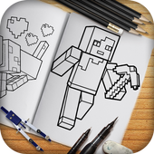 Learn to draw Minecraft  Unofficial icon