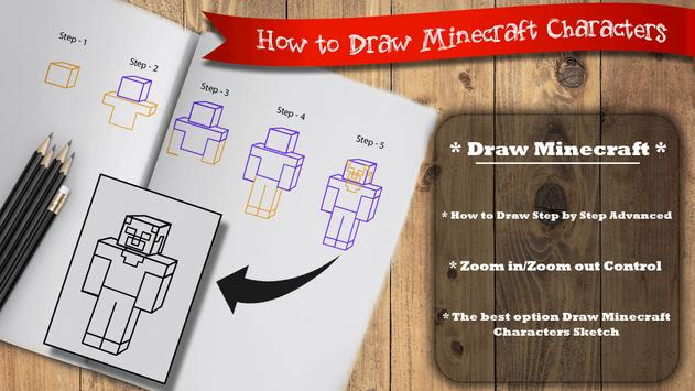Learn to draw Minecraft  Unofficial screenshot 1