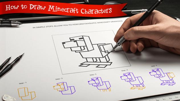 Learn to draw Minecraft  Unofficial screenshot 2