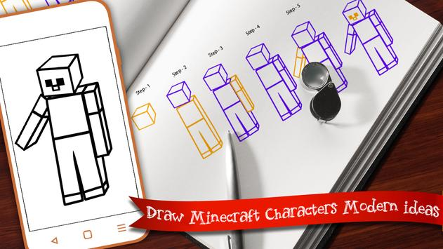 Learn to draw Minecraft  Unofficial screenshot 3