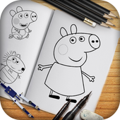 Learn to Draw Peppa & Pig icon