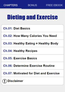 Dieting and Exercise screenshot 1