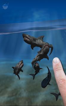 Shark Fingers 3D Aquarium FREE poster