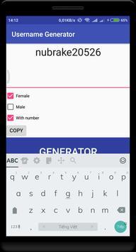 Username Generator screenshot 1