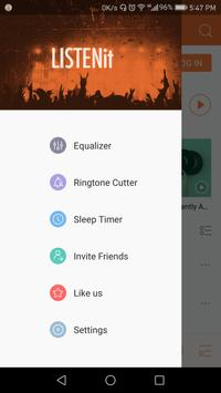 Music Player - just LISTENit, Local, Without Wifi apk screenshot