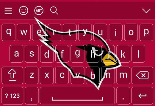 Arizona Cardinal Keyboard Theme poster