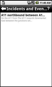 UK Traffic Feeds apk screenshot
