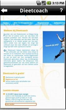 Dieetcoach Beta-app poster