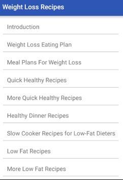 Weight Loss Recipes apk screenshot