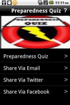 Preparedness Quiz poster