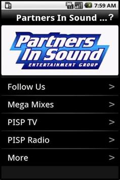 Partners In Sound Productions poster