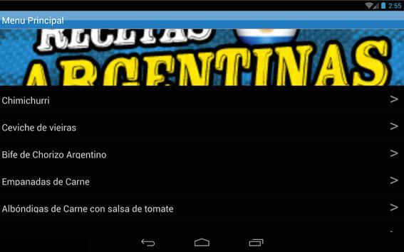 Recetas Argentinas 2.0 apk screenshot