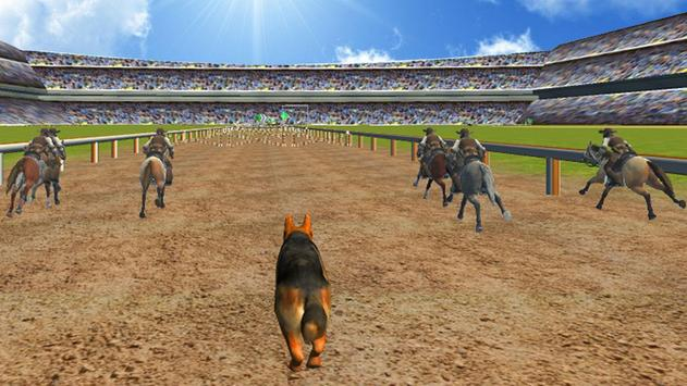Crazy Dog Racer and Horse Run poster