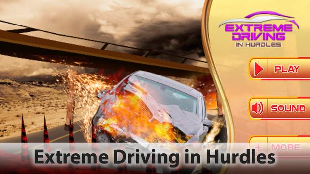 Extreme Driving in Hurdles Car poster