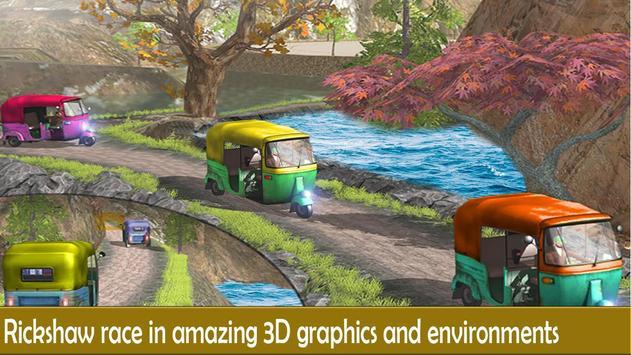 Rickshaw Race Simulator - Hill Drive Chingchi Game apk screenshot