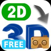 VR 2D3D Converter Free icon