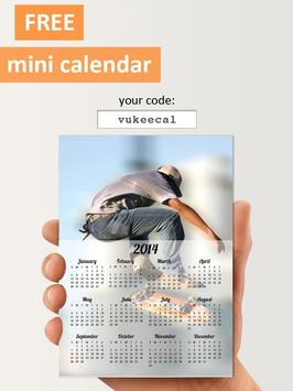 PhotoCal™ printed calendar poster