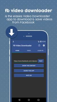 Video Download for F b apk screenshot