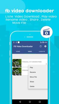 Video Download for F b screenshot 3