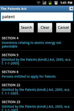 The Patents Act apk screenshot
