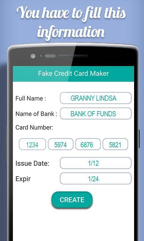 fake credit card maker prank for android  apk download