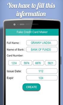 Fake Credit Card Maker Prank screenshot 2