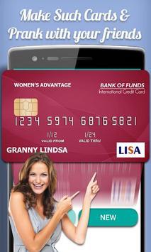 Fake Credit Card Maker Prank screenshot 3