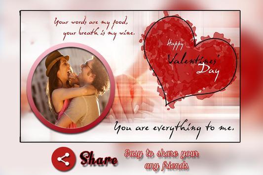 Valentine Photo Frame screenshot 4