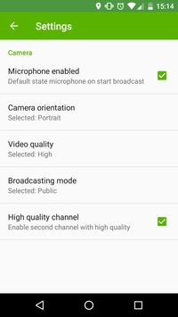VXG Cloud Broadcaster (Unreleased) apk screenshot